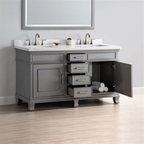 charleston 60quot double sink vanity mission hills furniture
