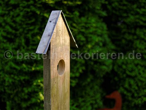 Gartendeko Holzbrett by Vogelhaus Als Gartendeko Basteln Und Dekorieren