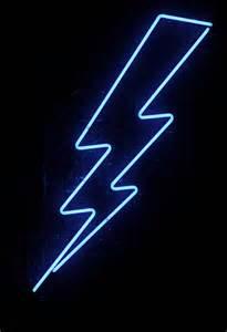 Lightning Bolt Car Sign Blue Neon Lightning Flickr Photo
