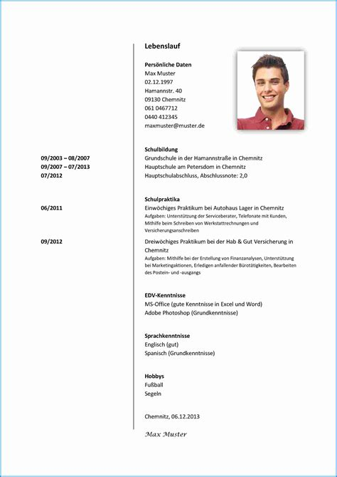 Ausfuhrlicher Lebenslauf Muster Beispiele 8 Bewerbung Praktikum Sch 252 Ler 8 Klasse Business Template