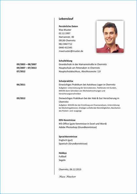 Lebenslauf Ausbildung Berufsschule Angeben 8 Bewerbung Praktikum Sch 252 Ler 8 Klasse Business Template