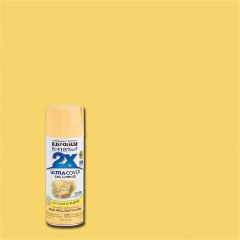 home depot spray paint yellow rust oleum painter s touch 2x 12 oz gloss warm yellow