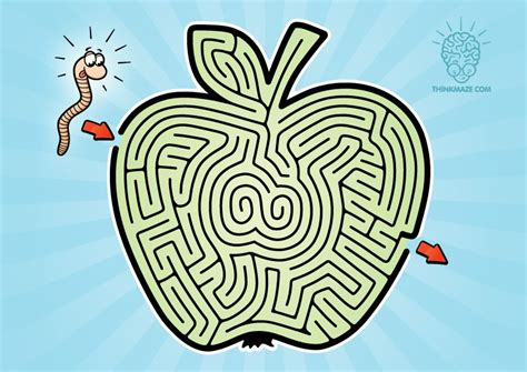 printable apple maze easy archives thinkmaze com beautiful mazes on the web