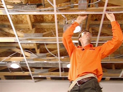 How To Build A Suspended Ceiling by How To Install An Acoustic Drop Ceiling How Tos Diy