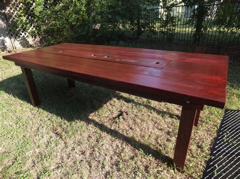 Cooler Patio Table Custom Patio Table With Built In Cooler By Thh Creations Custommade