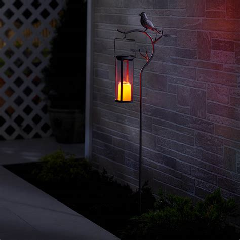 solar led candle l provence bird stake solar led candle lantern smart solar