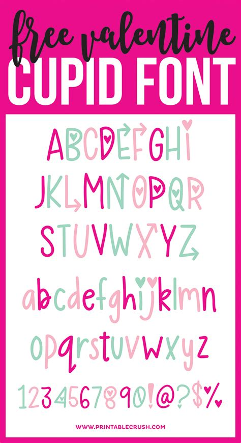 free printable valentines fonts hand lettered free valentine font and cute gift tags