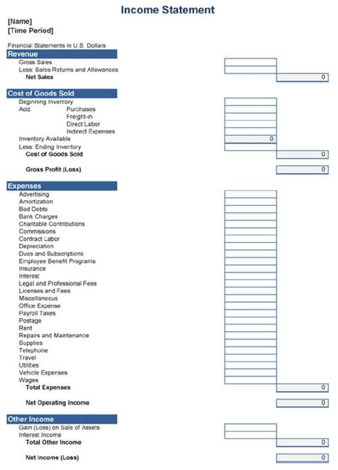 expense statement template 23 expense report form