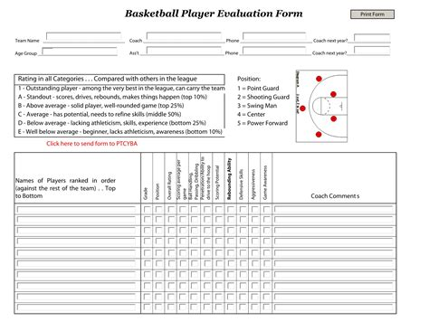 sports evaluation form template 5 exles of evaluation forms for sports