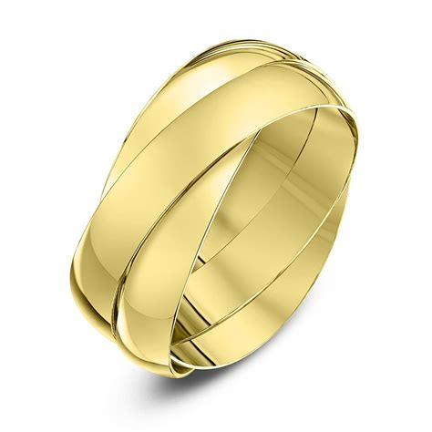 9kt yellow gold 4mm russian wedding ring