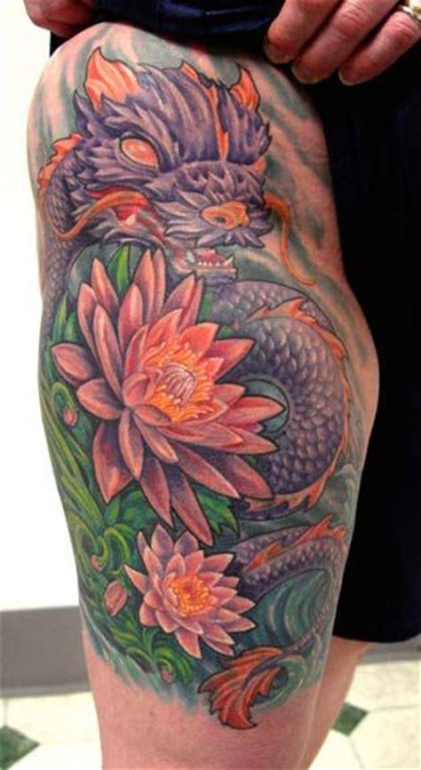 new school dragon tattoo new school purple dragon dragon and phoenix tattoos