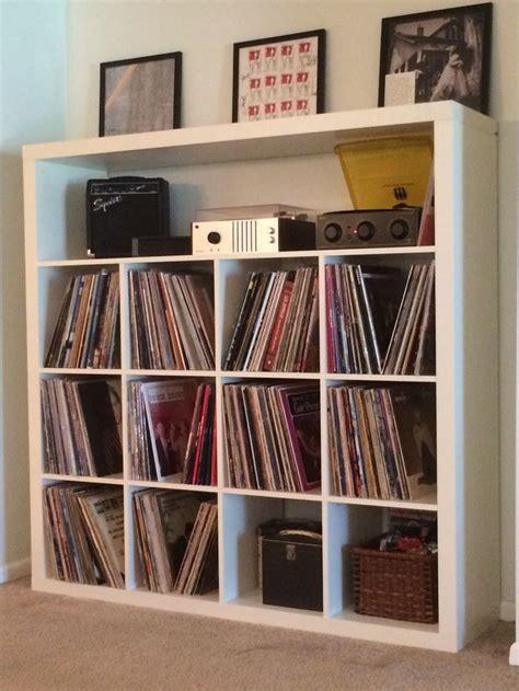 vinyl record storage ikea expedit record storage hack around the house