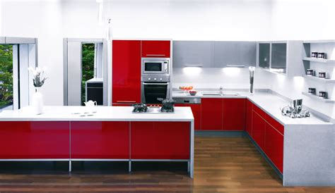 Sleek Senso Red Kitchen Design   StyleHomes.net