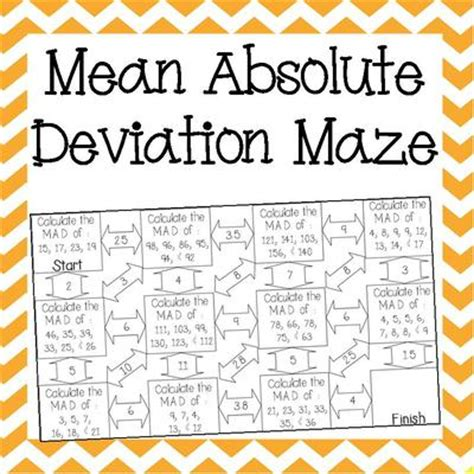 Absolute Deviation Worksheet Pdf by Absolute Deviation Maze
