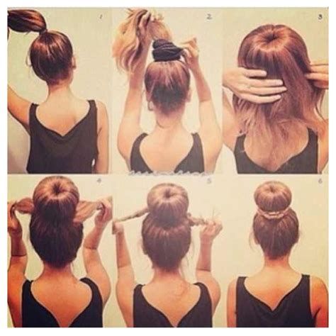 howtododoughnut plait in hair how to make a donut braid bun yourself beauty tips