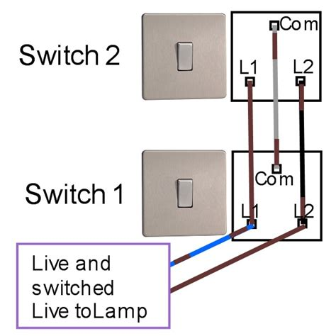 how to wire a 2 way switch diagram two way light switching light fitting