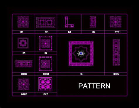 decoration pattern  autocad  cad