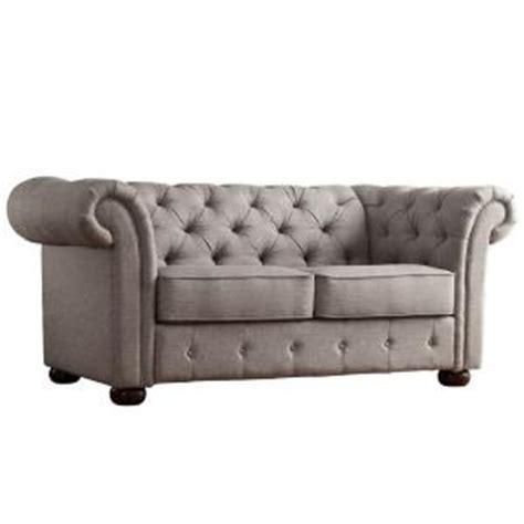 touch ls home depot homesullivan radcliffe chesterfield linen loveseat in grey