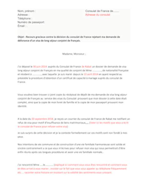 Lettre Recours Contre Refus De Visa Sle Cover Letter Exemple De Lettre En Recours Gracieux