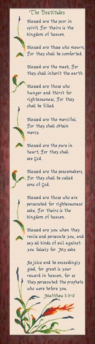printable beatitudes bookmarks 411 best bible or cross cross stitch images on pinterest