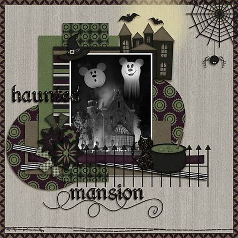 Haunted Mansion Papercraft - disney mansions and colors on