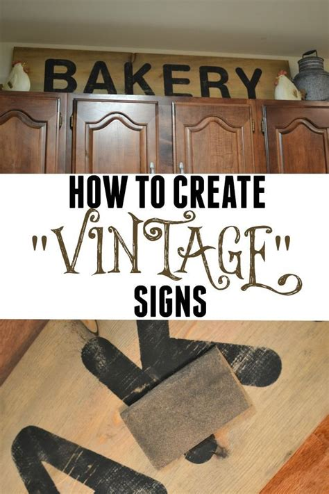 create vintage signs wooden signs  sayings