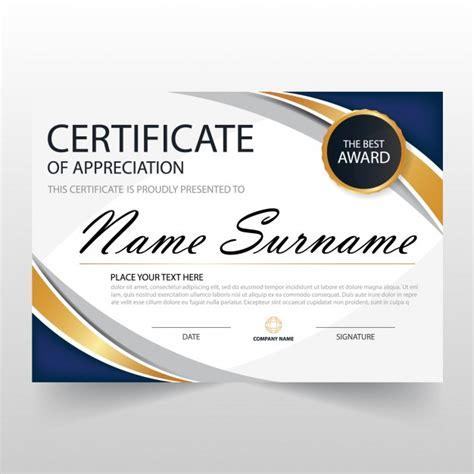 free certificate of appreciation template downloads wavy certificate of appreciation template vector free