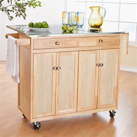 Inspirational Kitchen island Cart with Drop Leaf   GL