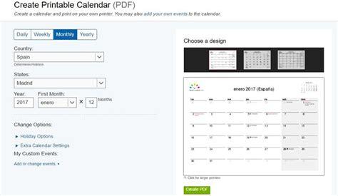 Generar Calendario 3 P 225 Ginas Gratis Para Generar Tu Calendario 2017 Para Imprimir