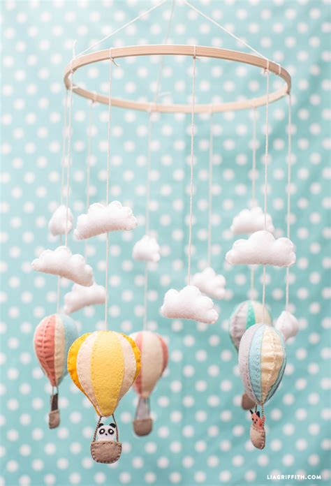 Hot Air Balloon Baby Mobile Lia Griffith Air Balloon Mobile Template