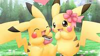 Pikachu Pokemon Cute Couples HD Wallpaper Of Cartoon  Hdwallpaper2013