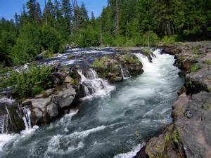 Of interstate 5 there is a view point for the rogue river gorge and we