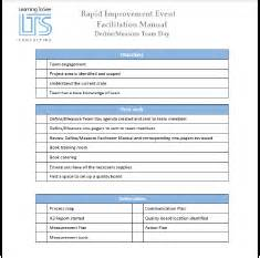 rapid improvement event template infrastructure we provide learning to see
