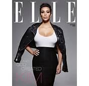 Kim Kardashian Lands ELLE UK January 2015 Cover