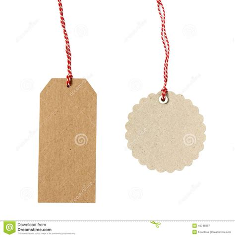 How To Make Paper Tags - blank hanging gift tags stock photo image 46748387