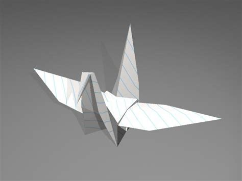 Origami Models To Make - 3d origami crane model