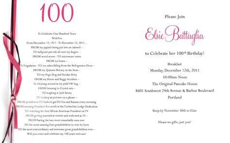 Elsie battaglia s 100th birthday party coming up december 12 2011