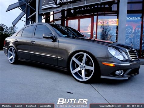 mercedes e class with 20in vossen cv3 wheels exclusively