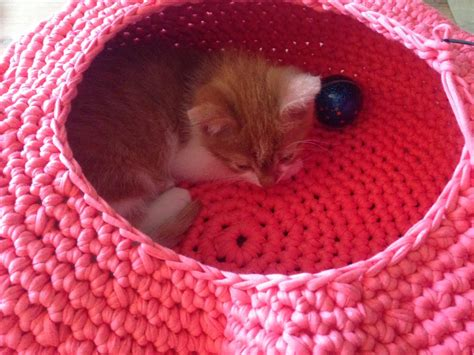 free crochet pattern cat bed lily razz crocheted cat nest