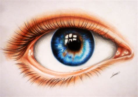 A Drawing Of An Eye by Eye Drawing Em