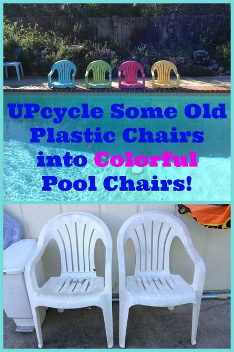 plastic poolside chairs repurposed white plastic chairs to painted pool chairs