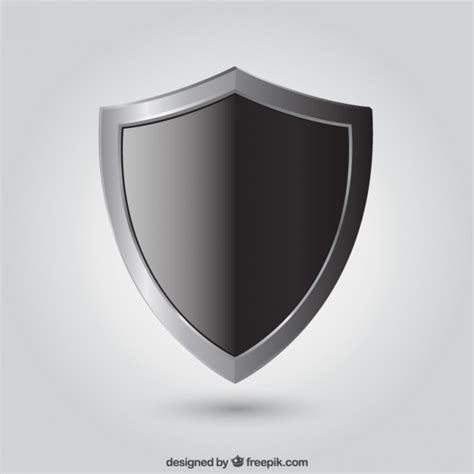 black shield vector free download