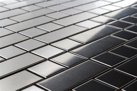 stainless steel tile bricks and squares stainless steel tiles earthworks metal mosaic