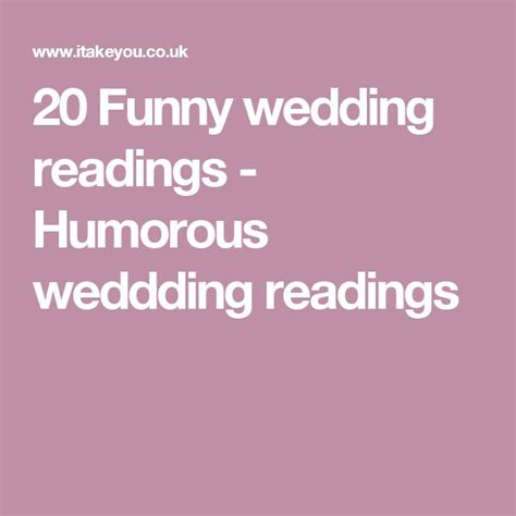 Wedding Ceremony Humor by Best 20 Wedding Readings Ideas On