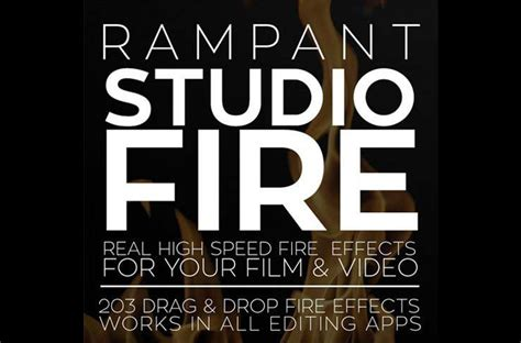 Rampant Design Tools Studio Fire Free After Effects Template Videohive Projects Hitfilm Lower Thirds Templates