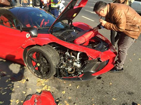 laferrari crash laferrari crashes in budapest
