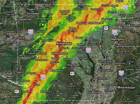 arkansas weather radar map a radar map shows the line of storms moving through
