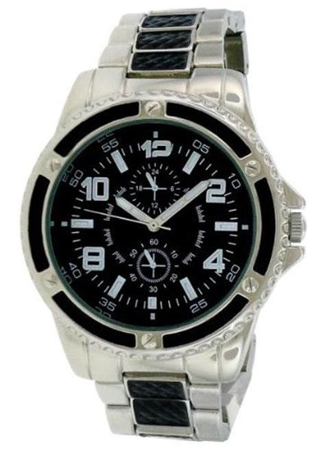 s watches fmd by fossil merona two tone black mens