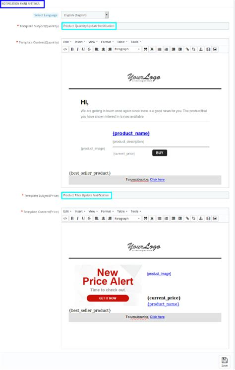 yahoo email update alert prestashop product update notification addon by knowband