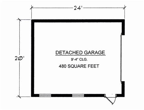detached garage floor plans floor plans detached 2 car garage 480 sq ft total